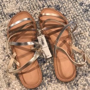 NWT Old Navy Metallic Sandals